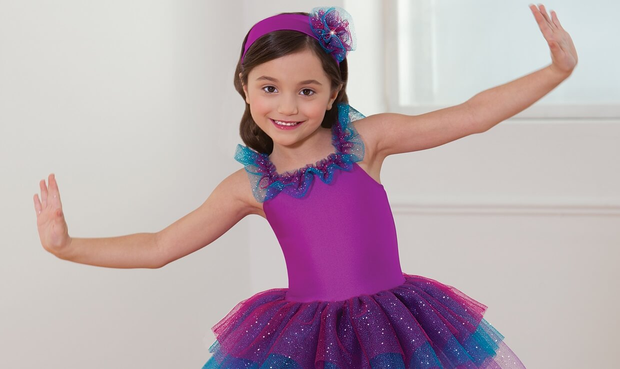660 ballet tap jazz costume purple